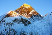Abend Blick Everest vom Kala Patthar Trekking zum Everest base Camp-nepal