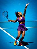 MELBOURNE - JANUARY 23: Serena Williams of USA in her quarter final loss to Sloane Stephens of USA a