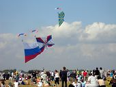 Parachutists Jumpers With Flags