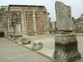 Interior Of The Synagogue Of Capernaum, Israel