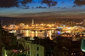 Genova And The Port At Evening