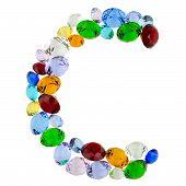 Letter C of gems