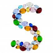 Letter S of gems