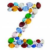 Letter Z of gems