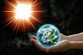 Earth In Woman Hands