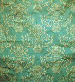 Seamless damask pattern with grunge texture