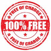 Free Of Charge-stamp