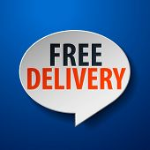 free delivery 3d speech bubble