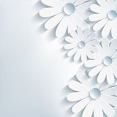 Stylish Creative Abstract Background, 3D Flower Chamomile