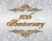 50Th Anniversary Card Or Invitation