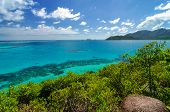 Blue Sea And Green Island