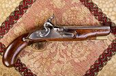 Antique English Flintlock Pistol.