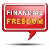 pic of debt free  - financial freedom and economic independence self sufficient with retirement plan and debt free sign - JPG