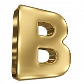 picture of letter b  - Letter B from gold solid alphabet - JPG