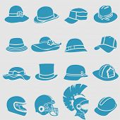 Hat icons set.Vector