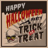 Halloween Party design template for card-poster-flyer
