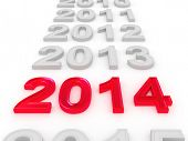 Happy New Year-2014. 3D