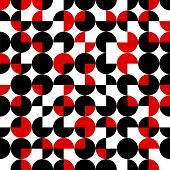 Seamless Pattern Of Circles.abstract Geometric Background.vector