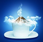 Coffee Cup With Smoking Concept