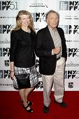 NEW YORK- OCT 8: Former talk show host Dick Cavett and author Martha Rogers attend the