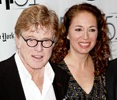 NEW YORK- OCT 8: Actor Robert Redford and producer Anna Gerb attend the premiere of