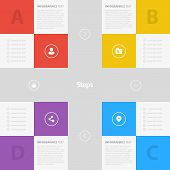 Flat Colorful Step by Step Background