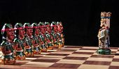 Ecuadorian chess set between Spaniards and Incas