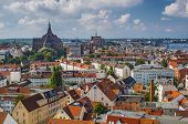 Rostock, Germany city skyline.