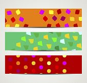 banner with abstract pattern