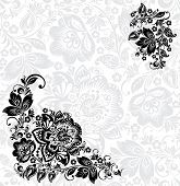 Vector abstract floral design elements