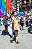 People Celebrate The Christopher Street Day In Munich With Colorful Costumes