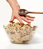 stock photo of spanking  - A hand reaching for cookie dough and getting caught - JPG