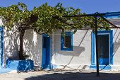 Picturesque Greek House With Vine