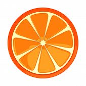 Orange fruit, 3d