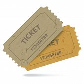 Admit One Vintage Paper Tickets