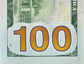 Back part of redesigned new look hundred dollar bill