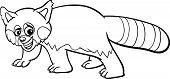 Red Panda Cartoon Coloring Page