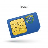 State of Nevada phone sim card with flag.