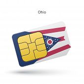 State of Ohio phone sim card with flag.