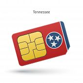 State of Tennessee phone sim card with flag.