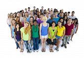 stock photo of united we stand  - Group of united students - JPG