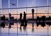 stock photo of terminator  - Group of People in the Airport - JPG