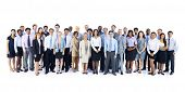 stock photo of facials  - Large Group of Business People - JPG