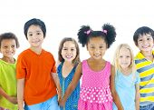 stock photo of cheer  - Group of Children - JPG