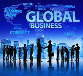 Global Business Meeting and Handshake
