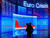 Euro Crisis with Worried Businessman