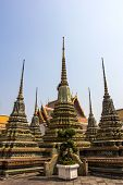 Bangkok, Thailand - Jan 25, 2014: Travel Buddhism at Wat Po on holiday