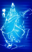 pic of saraswati  - Illustration of goddess Saraswati with music instrument - JPG