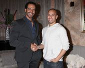 LOS ANGELES - MAR 25:  Kristoff St John, Bryton James at the Young and Restless 41st Anniversary Cak
