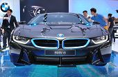 Nonthaburi - March 25: New Bmw I8  On Display At The 35Th Bangkok International Motor Show On March